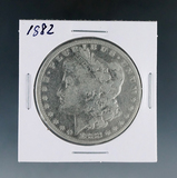 1882 Morgan Silver Dollar F Details Cleaned