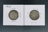 1915 and 1919 Canadian Silver Quarters G