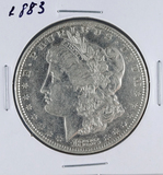 1883 Morgan Silver Dollar VF Details Cleaned