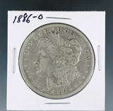 1886-O Morgan Silver Dollar F Details Cleaned