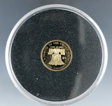 Cook Island 2020 Eagle Design US Tribute Coin 1/10th Ounce .24 Pure Gold Proof