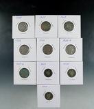 7 Buffalo Nickels 1925, 2-1927, 1935, 1936, 1936-D 1937-D G-F and 3 Barber Dimes 2-1905 and 1915