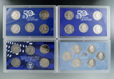 1999, 2001, 2002 and 2009 State Quarter Proof Sets in Original Boxes