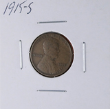 1915-S Lincoln Wheat Cent Better Date F