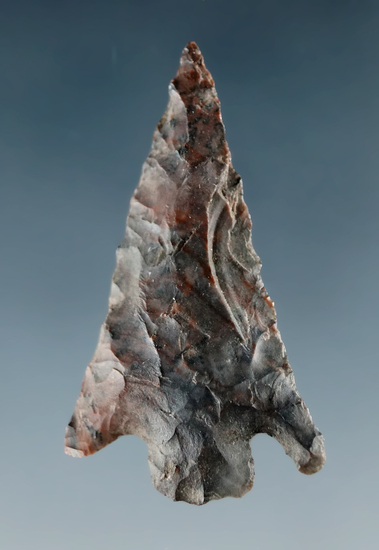 "1 3/8"" Columbia Plateau made from Jasper, found near the Columbia River."