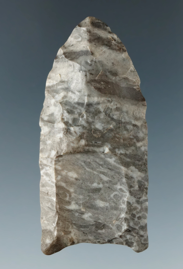 """2 3/16"""" Paleo Fluted Clovis made from Onondaga Flint found near Springville, Erie Co., New York."