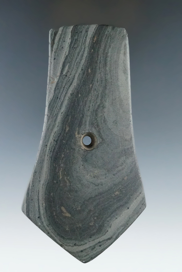 "4 11/16"" Hopewell Pentagonal Pendant with tallies - Scioto Twp., Delaware Co., Ohio. Pictured."