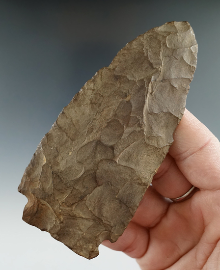 """4 1/16"""" Brewerton Knife found in Chenango Co., New York.   Ex. Burr collection."""