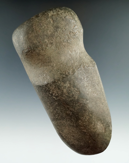 """Uniquely styled 5 1/8"""" long 3/4 grooved square-poll Axe found in Livingston Co., New York."""