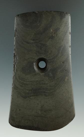 "3 3/4"" slate Pendant found near the Seneca River, New York.   Ex. Harry Arthur collection."
