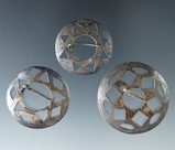 Pictured! Set of three nice Trade Brooches, largest is 1 1/2
