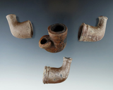 Set of four clay Trade Pipes.