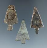 Set of three metal arrowheads, largest is 1 5/8