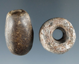 Pair of drilled stone beads found in Livingston County New York in excellent condition.