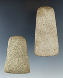 Pair of stone Celts, largest is 3 7/8