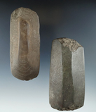 Pair of Lamoka faceted Celts, largest is 4  1/4