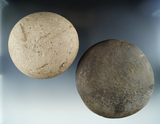 Pair of stone grinding Manos in very nice condition found in New York, largest is 4 1/4