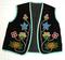 Excellent beadwork on this floral design velvet beaded Anishinaabe Vest.
