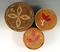 Set of three well decorated Birch bark and Quill work Baskets in nice condition.