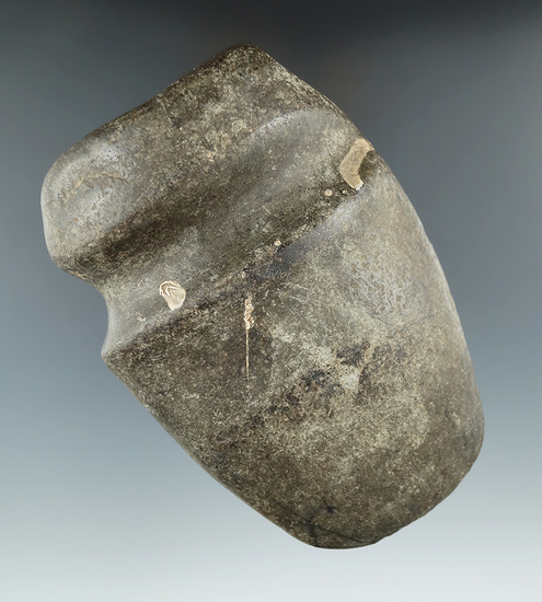 """5 1/4"""" long 3/4 grooved Greenstone Axe found in Hancock Co., Indiana."""