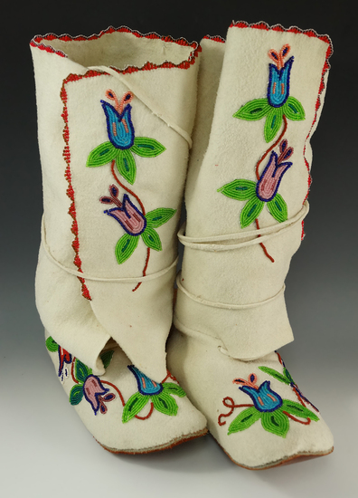 Pair of contemporary beaded Boots.