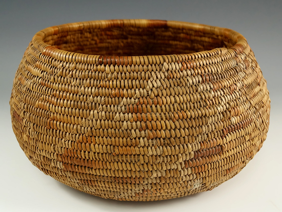 """Excellent weaving on this 8"""" wide x 4"""" tall Apache Basket."""
