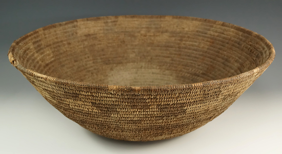 "Tightly woven 15"" diameter x 5"" tall Pima Basket."