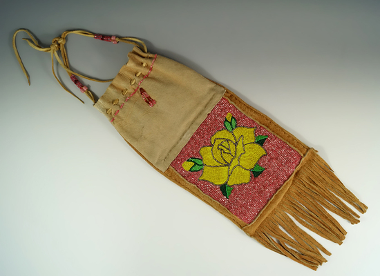 Nicely beaded contemporary Pipe Bag.