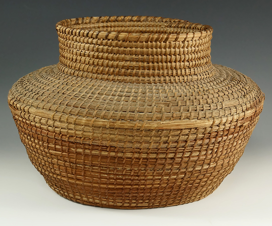 "Nicely woven 12"" x 10""x 8 "" tall Pima Basket."