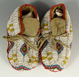 Pair of nicely beaded children's Moccasins.