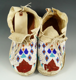 Pair of Circa 1950's beaded Moccasins.