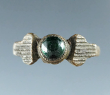 French trade Ring found in Emmett Co., Michigan with original stone.