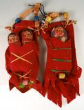 Set of vintage dolls.