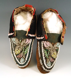 Nicely decorated beaded Iriquois Moccasins.