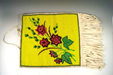 Contemporary floral design beaded Bag in excellent condition.