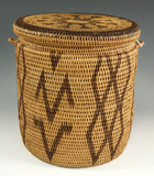 Excellent workmanship on this Native American contemorary lidded Basket.