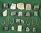 Nice assortment of 17 gun flints and six iron fishhooks from the 17th century found in NY.