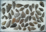 Group of approximately 40 archaic points found near the upper Susquehanna in Otsego County NY.