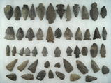 Approximately 50 assorted points and knives found near the upper Susquehanna, Otsego County NY.