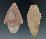Pair of Dixon points from the Illinois/Missouri area, largest is 2 3/8