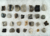 Group of 28 black powder Gunflint's from the 1600s- 1700s found at various sites in NY.