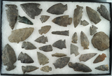 Group of 30+ assorted archaic points and drills found in Oneonta NY near theSusquehanna River.