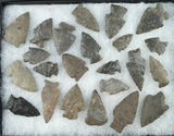 Group of 23 assorted points found in Otsego County NY. Largest is 1 15/16