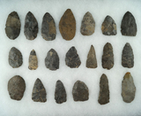 Approximately 20 prehistoric biface knives found near the upper Susquehanna, NY.