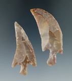 2 Uniquely curved and stemmed Neolithic knifes found in the Northern Sahara Desert Region, Africa.