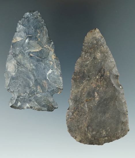 Pair of Upper Mercer Flint Blades found by Jack Hooks family and Coshocton Co.,  Ohio.-