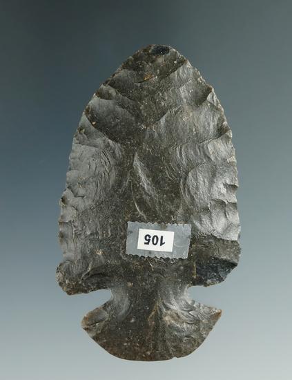 """Coshocton Flint Dovetail 2 9/16"""" found in Darke Co., Ohio."""