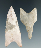 Pair of well-made Dalton points found in Cooper Co., Missouri by Bill Bodine. Largest is 2 5/16