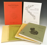 Set of six publications in excellent condition on sites in the Mississippi Valley. See photos for in