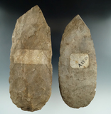 Pair of old Flint Hoes from Missouri, largest is 8